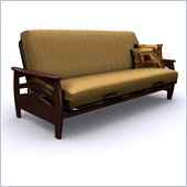 Elite Products Montego Full Size Futon Frame in Walnut