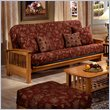 ADD TO YOUR SET: Elite Products Bridgeport Full Size Wood Futon Frame in Golden Oak