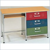 Elite Products 3 Drawer Metal Kids Locker Desk