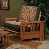 Elite Products Renaissance Junior Twin Oak Futon Chair Frame