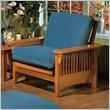 ADD TO YOUR SET: Elite Products Santa Barbara Junior Twin Golden Oak Futon Chair Frame