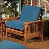 Elite Products Santa Barbara Junior Twin Golden Oak Futon Chair Frame