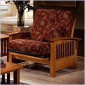 Elite Products Bridgeport Junior Twin Oak Futon Chair Frame