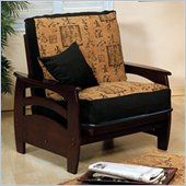 Elite Products Montego Junior Twin Walnut Futon Chair Frame