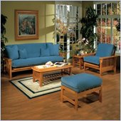 Elite Products Santa Barbara Futon Set in Golden Oak