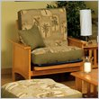 ADD TO YOUR SET: Elite Products Cottage Grove Junior Twin Futon Chair Frame in Golden Oak