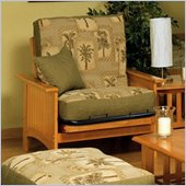 Elite Products Cottage Grove Junior Twin Futon Chair Frame in Golden Oak