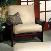 Elite Products Santa Barbara Junior Twin Walnut Futon Chair Frame