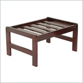 Elite Products Junior Twin Rectangular Walnut Ottoman Frame