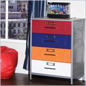 Elite Products Locker Multicolor 4 Drawer Dresser