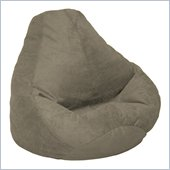 Elite Products Extra Large Soft Suede Bean Bag in Olive