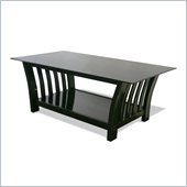 Elite Products Milan Black Coffee Table with Glass Top