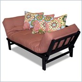 Elite Products Hudson Convertible Futon Sofa with Black Metal Frame
