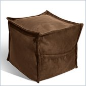 Elite Products Sit-E-Block Foot Cube in Chocolate Suede