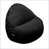 Elite Products Deluxe Cord Sitsational 1 Seater Bean Bag Chair in Black