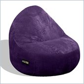 Elite Products Deluxe Cord Sitsational 1 Seater  Bean Bag Chair in Aubergine