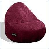 Elite Products Deluxe Cord Sitsational 1 Seater Bean Bag Chair in Berry