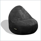 Elite Products Deluxe Cord Sitsational 2 Seater Bean Bag Chair in Black