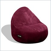 Elite Products Deluxe Cord Sitsational 2 Seater Bean Bag Chair in Berry