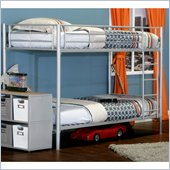 Elite Products Twin over Twin Bunk Bed in Sleek Steel Finish