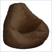 Elite Products Extra Large Soft Suede Beanbag in Chocolate