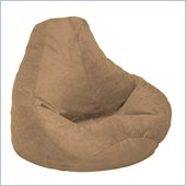 Elite Extra Large Soft Velvet Luxe Bean Bag in Coffee