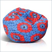 Elite Juvenile Print Large Junior Bean Bag in Spider Web