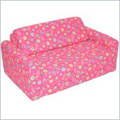 Elite Pink Flowers Children's Foam Sleeper Sofa