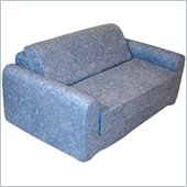 Elite Distressed Denim Children's Foam Sleeper Sofa