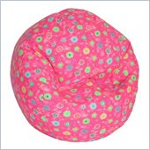 Elite Child Prints Collection Pink Flowers Bean Bag Lounger