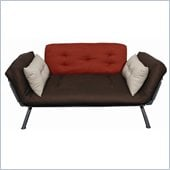 Elite Products Mali Futon in Stone/Dusk/Plank 