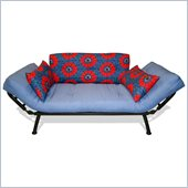 Elite Products Mali Futon with Spiderweb Cushions