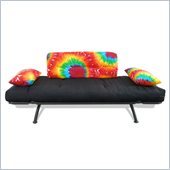 Elite Products Mali Futon with Tie Dye Cushions