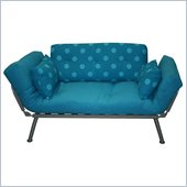 Elite Products Mali Futon with Polka-Dot Cushions