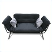 Elite Products Mali Futon in Black and White