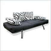 Elite Products Mali Futon in Zebra Print