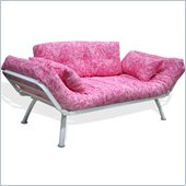 Elite Products Mali Futon in Pink Paisley