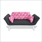 Elite Products Mali Futon in Pink and Black