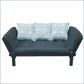 Elite Products Hudson Futon Royalty in Black and White
