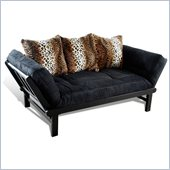 Elite Products Hudson Futon in Black and Leopard