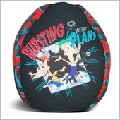 Elite Products Disney Phineas & Ferb-Bursting with Plans Bean Bag Cover