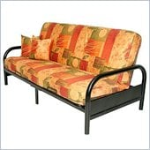 Elite Product Skyline Full Size Metal Futon Frame in Black