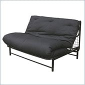 Elite Products E-Frame Full Size Futon with Black Metal Frame