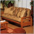 ADD TO YOUR SET: Elite Products Montego Full Oak Wood Futon Frame