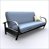 Elite Products Evolution Full Size Metal Futon Frame in Black or Silver