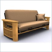Elite Products Portofino Full Size Futon Frame in Oak