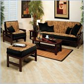 Elite Products Montego Futon Set in Walnut Finish