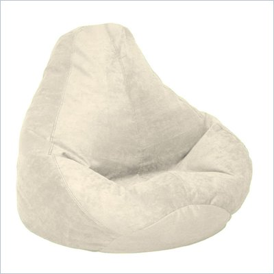Elite Soft Velvet Luxe Extra Large Bean Bag in Buckwheat