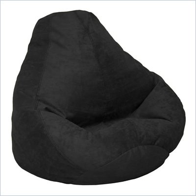 Elite Products Extra Large Soft Suede Beanbag in Onyx