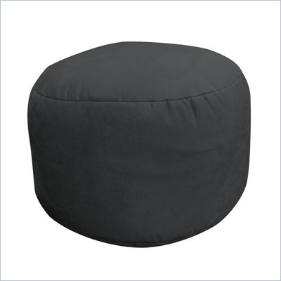 Elite Soft Suede Luxe Bigfoot Footstool Bean Bag  in Onyx